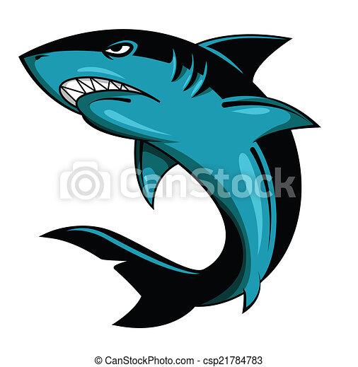 Ilustración de vectores de tiburón - csp21784783