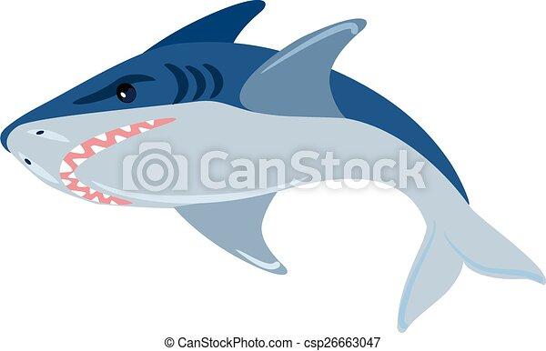 Ilustración de tiburones vectores - csp26663047