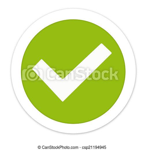 Tick Check creative green round design - csp21194945