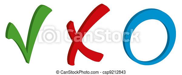 Tick cross and circle - csp9212843