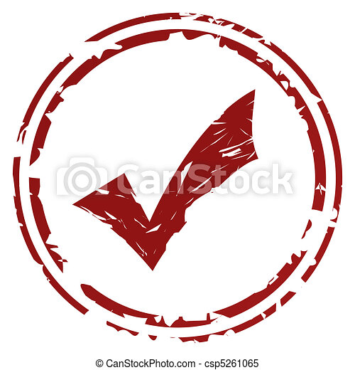 Tick or check mark stamp - csp5261065