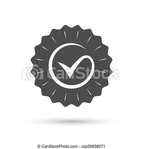 Tick sign icon  Check mark symbol