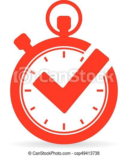Tick timer vector icon - csp49413738