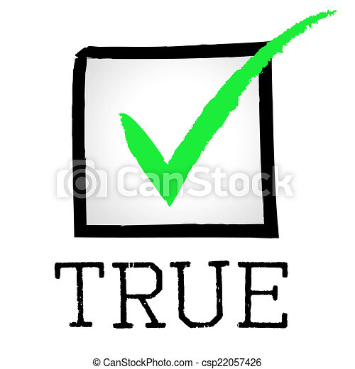 tick true indicates no lie and approved tick true clip art rh canstockphoto ie