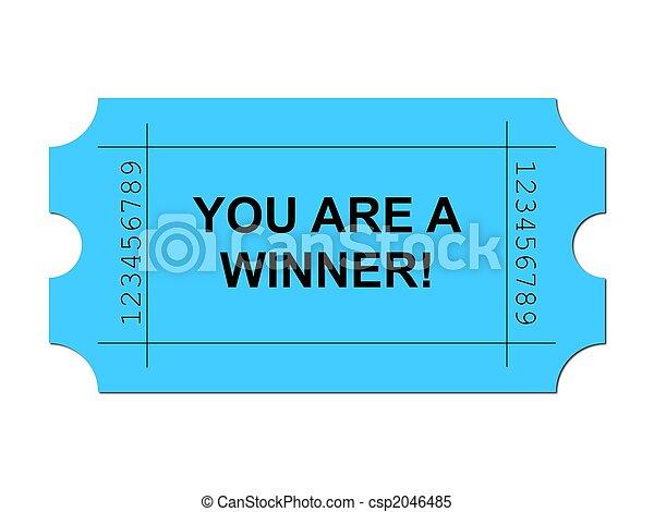 Ticket Blue - csp2046485
