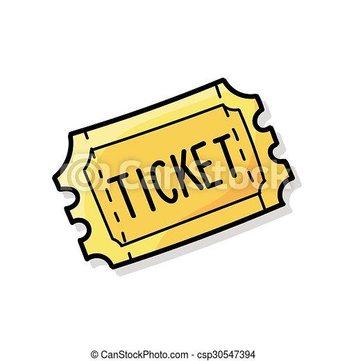 ticket doodle - csp30547394