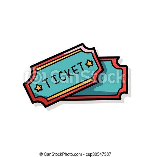 ticket doodle - csp30547387