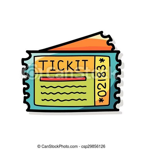 ticket doodle - csp29856126