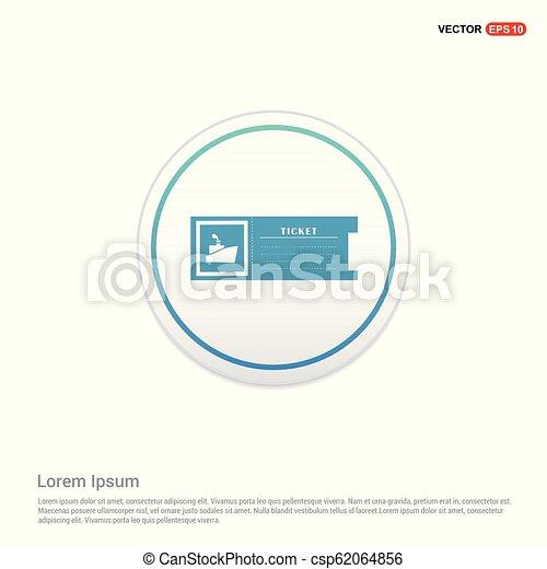 ticket icon - white circle button - csp62064856