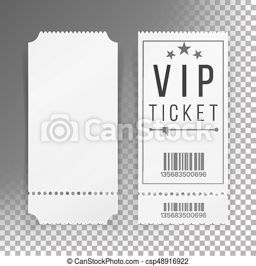 Ticket Template Set Vector. Blank Theater, Cinema, Train, Football Tickets  Coupons. Isolated On  Blank Ticket Template