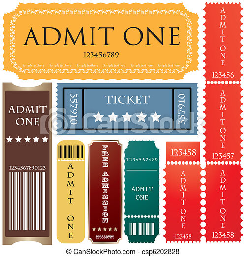 tickets in different styles - csp6202828