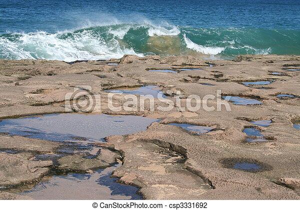 Tide Pools at Molokai Hawaii - csp3331692