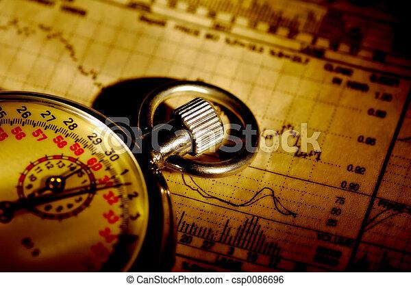 tidtagning, marknaden - csp0086696