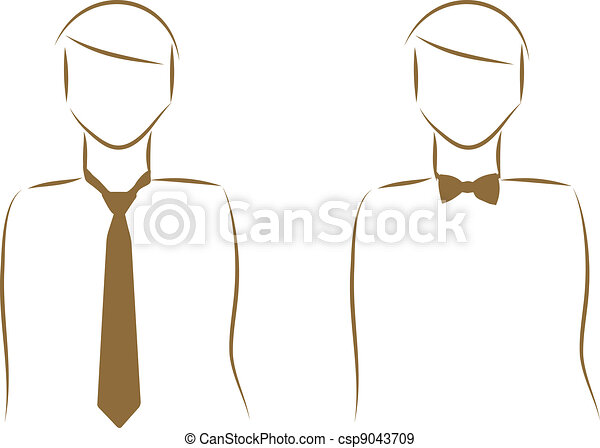 Tie and a bow tie - csp9043709