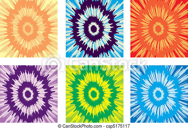Tie dye pattern an illustration of a variety of different tie dye pattern vector voltagebd Image collections