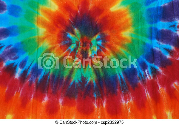 Tie dye pattern. Bright colored tie dye design on fabric. stock ...