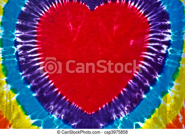 Tie-Dyed Heart - csp3975858
