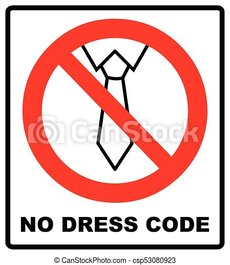 tie line icon in prohibition red circle no business style of dress rh canstockphoto com