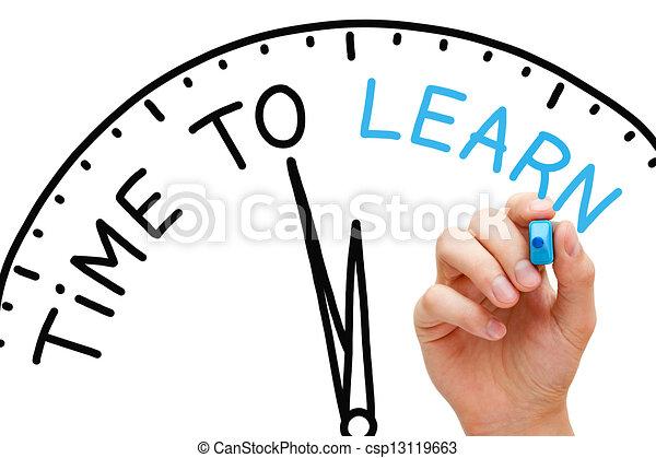 Hora de aprender - csp13119663