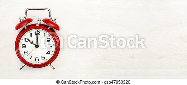 Pancarta de reloj retro - csp47950320
