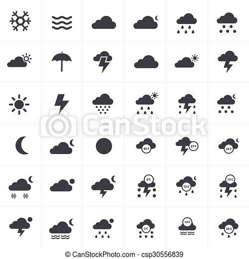 iconos del tiempo establecidos - csp30556839