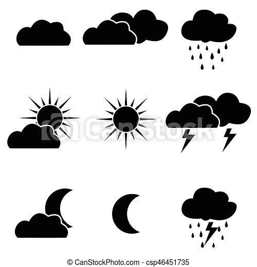 Los iconos del clima - csp46451735