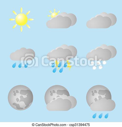 Listos para los iconos meteorológicos - csp31394475