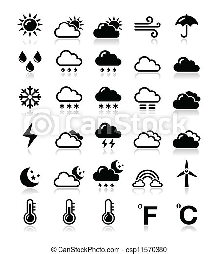 tiempo, conjunto, vector, -, iconos - csp11570380