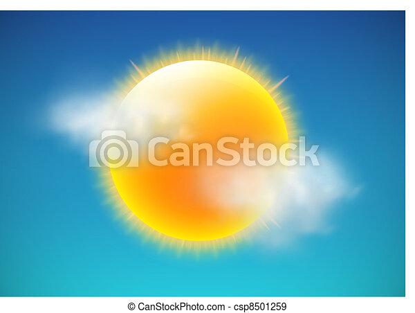 Un icono meteorológico - csp8501259