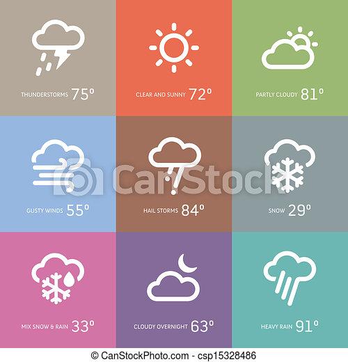 iconos meteorológicos - csp15328486