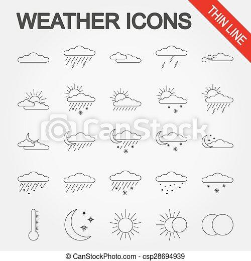 tiempo, icons. - csp28694939