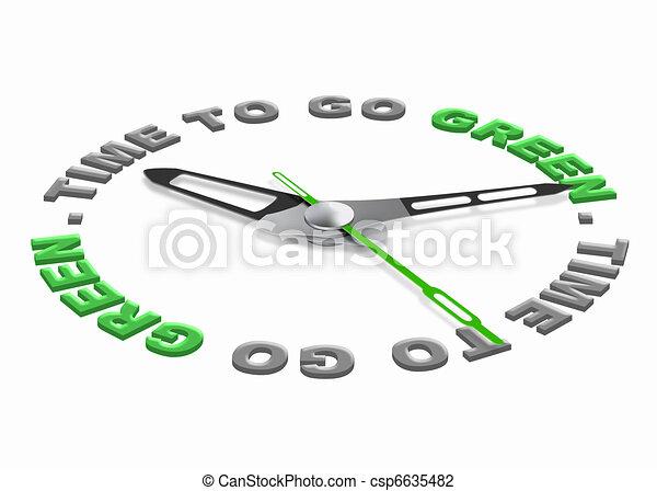 Hora de ponerse verde - csp6635482