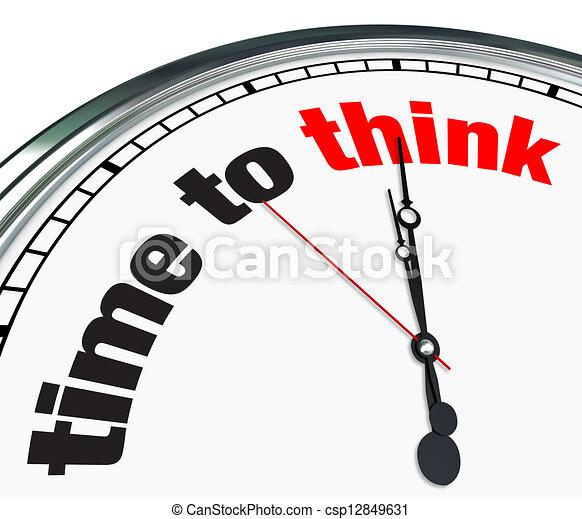Tiempo para pensar - reloj - csp12849631