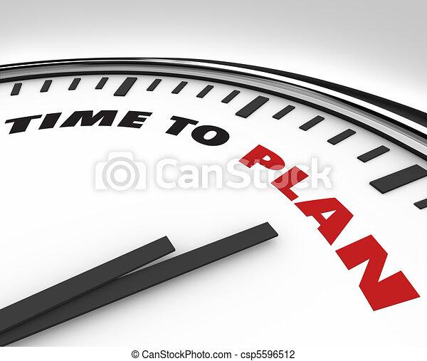 tiempo, -, plan, palabras, reloj - csp5596512