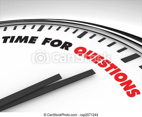 tiempo, -, preguntas, reloj - csp2071244