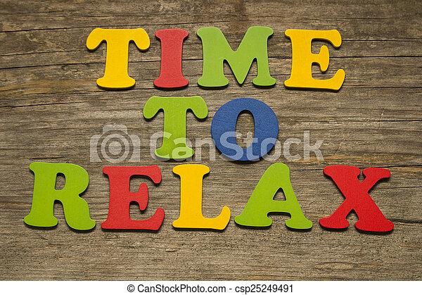 Hora de relajarse - csp25249491