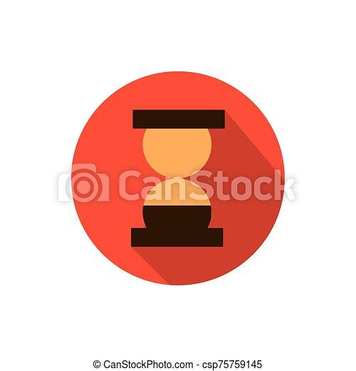 tiempo, sombra, estrategia, icono, bloque, reloj de arena, empresa / negocio - csp75759145