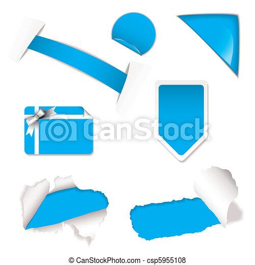 Elementos de venta de compras azules - csp5955108