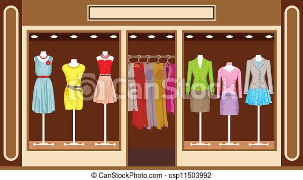 tienda, boutique., ropa, mujeres - csp11503992