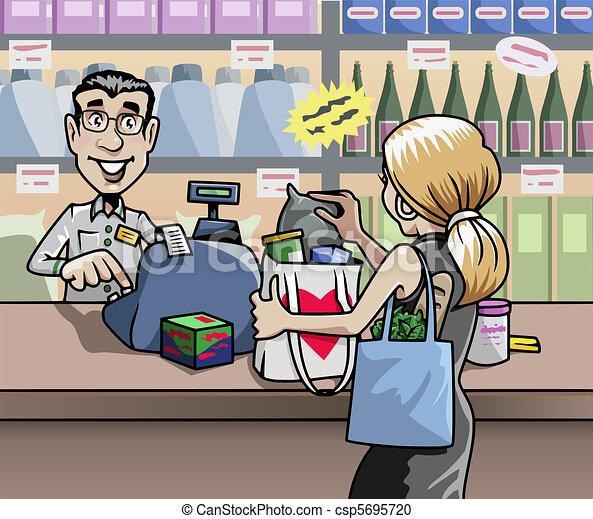 En la tienda - csp5695720