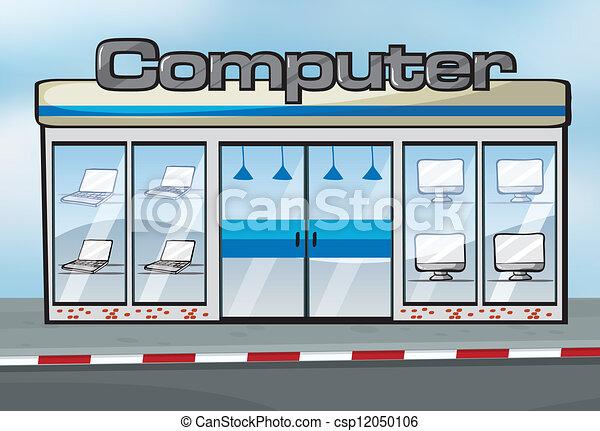 Una tienda de computadoras - csp12050106