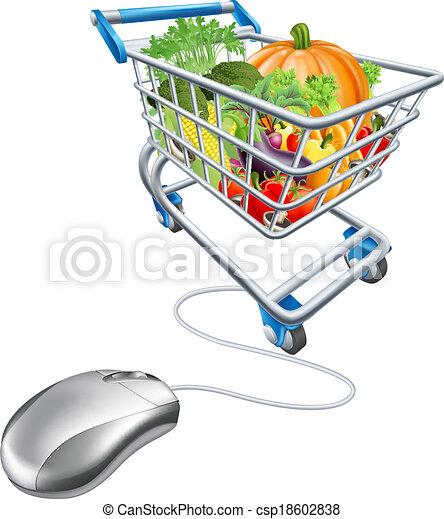 El concepto de compra online - csp18602838