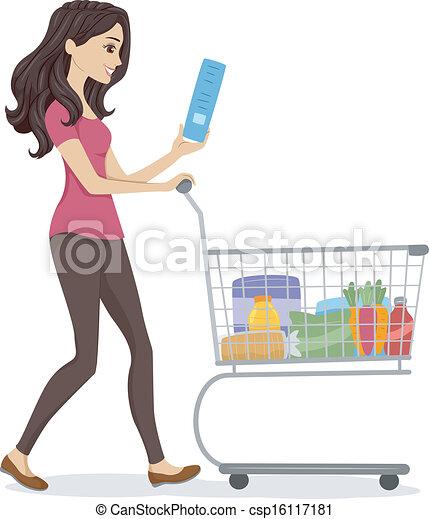 Chica del supermercado - csp16117181
