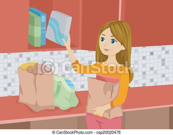 Chica de la tienda - csp20020478