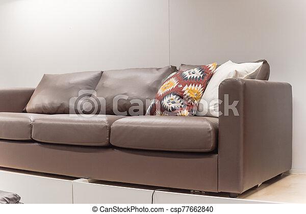 tienda, hogar, muebles, américa, sofás, sofás de cuero, moblaje - csp77662840