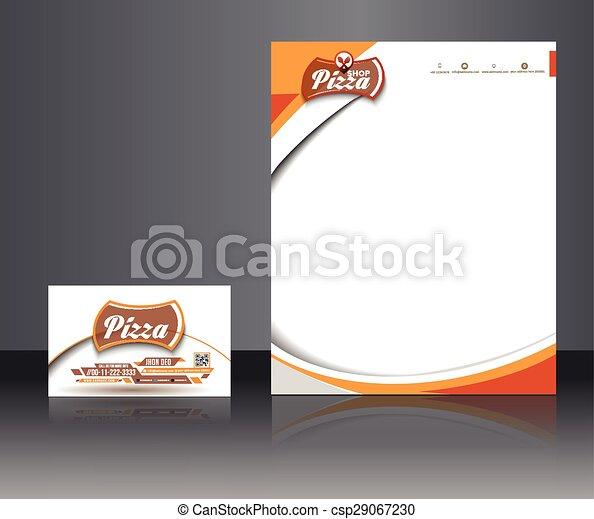 Identidad corporativa de la pizzería - csp29067230