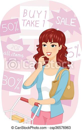 Venta de tiendas de chicas - csp36576963