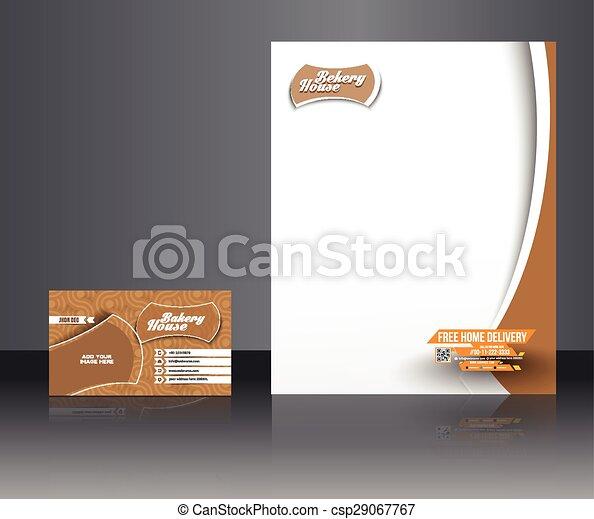 Identidad corporativa de la panadería - csp29067767