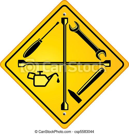 Signo de reparación de autos - csp5583044
