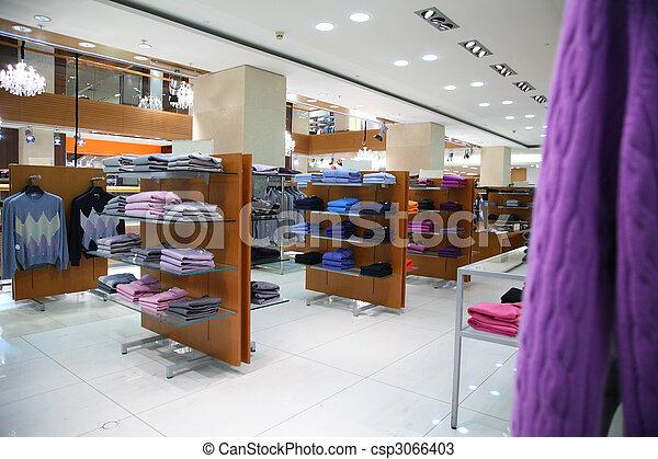 tienda, ropa, estantes - csp3066403